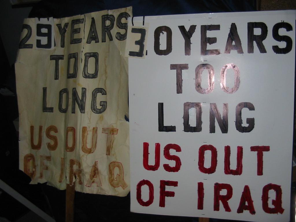 [Gulf War 30 years later sign]