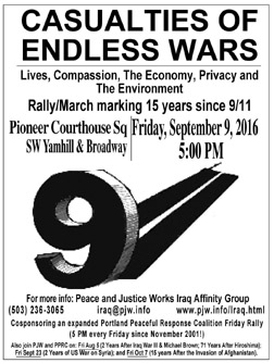9/11 15 years later flyer]