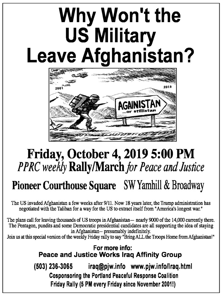 [Afghanistan 18 Years Later poster]