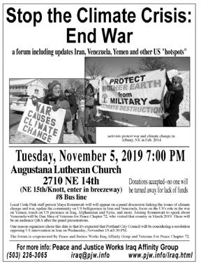 [Climate/War Forum Flyer]