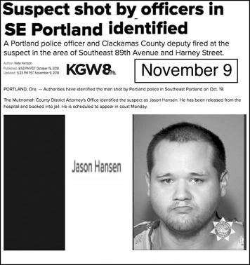 3defc566 Portland Police Shoot Three People in 20 Days; <br>Man Dies in ...