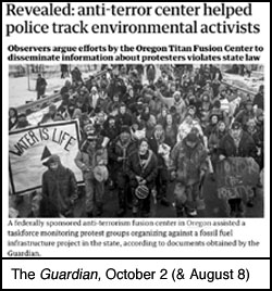 Guardian article on the police spying on activists