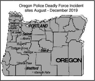 map of Oregon shootings
