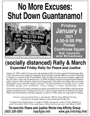 [Guantanamo 19 Years Later flyer]
