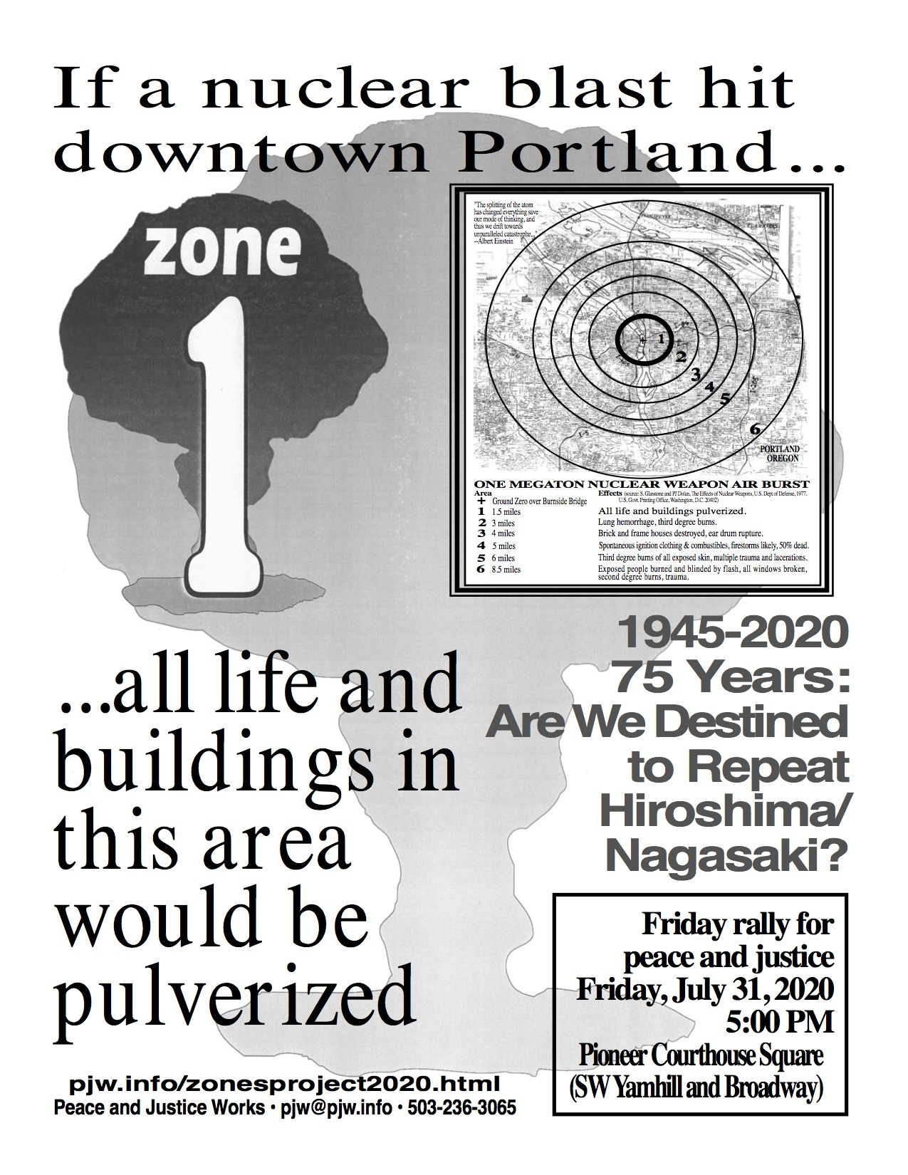 [Hiroshima 75 Years Later flyer]
