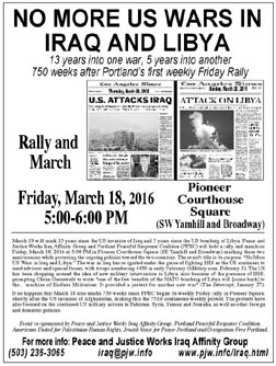 [Iraq War 25 Years Later flyer]