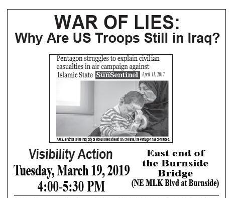 [Iraq 16 Years Later flyer]